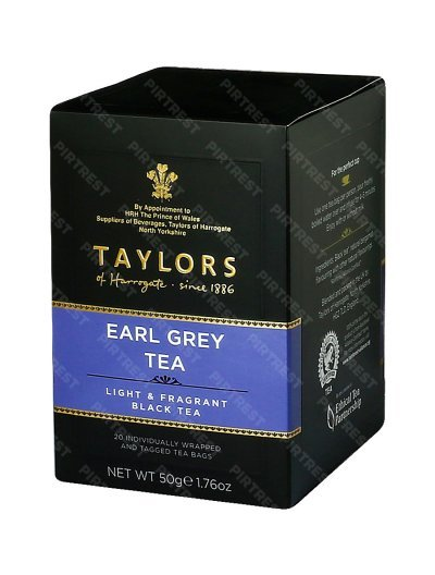 Чай Taylors of Harrogate Earl Grey (Эрл Грей) в пакетиках 20 шт х 2.5 г.