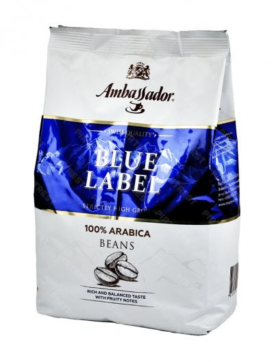 Кофе Ambassador Blue Label в зернах 1 кг.