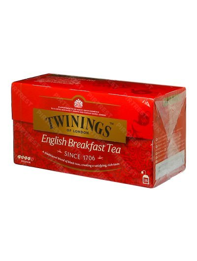 Чай Twinings English Breakfast Tea 25 пак. x 2 г.