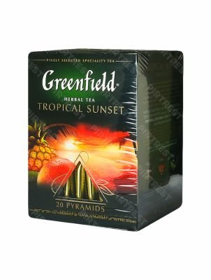 Чай Greenfield Tropical Sunset травяной в пирамидках 20 шт.